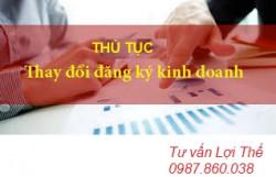 THỦ TỤC THAY ĐỔI NỘI DUNG ĐĂNG KÝ KINH DOANH CỦA DOANH NGHIỆP