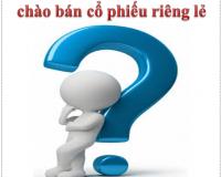 Điều kiện và Thủ tục đăng ký chào bán cổ phiếu riêng lẻ