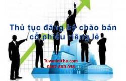 Thủ tục đăng ký chào bán cổ phiếu riêng lẻ