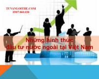 Những hình thức đầu tư nước ngoài tại Việt Nam