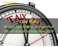 Quy định về thời hạn nộp hồ sơ khai thuế đối với doanh nghiệp năm 2020