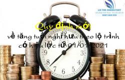 Quy định mới về tăng tuổi nghỉ hưu theo lộ trình có hiệu lực từ 01/01/2021