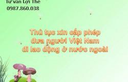 Thủ tục xin cấp phép đưa người Việt Nam đi lao động ở nước ngoài