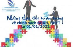 Những thay đổi quan trọng về chính sách BHXH, BHYT từ 01/01/2021