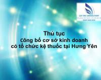 Thủ tục công bố cơ sở kinh doanh có tổ chức kệ thuốc tại Hưng Yên