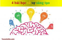 4bài học về sự sáng tạo