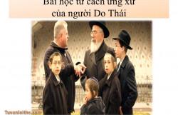 Bài học từ cách ứng xử của người Do Thái1