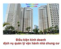 Điều kiện kinh doanh dịch vụ quản lý vận hành nhà chung cư