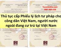 Hưng Yên: Thủ tục cấp Phiếu lý lịch tư pháp cho công dân Việt Nam, người nước ngoài đang cư trú tại Việt Nam