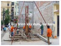4 quy trình xây dựng cơ bản