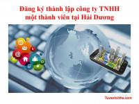 Đăng ký thành lập công ty TNHH một thành viên tại Hải Dương